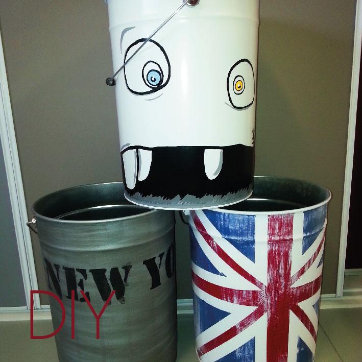DIY Faire des poubelles   tabourets   rangements avec des seaux